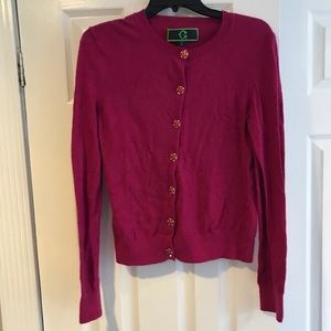 Pink cardigan with detailed buttons